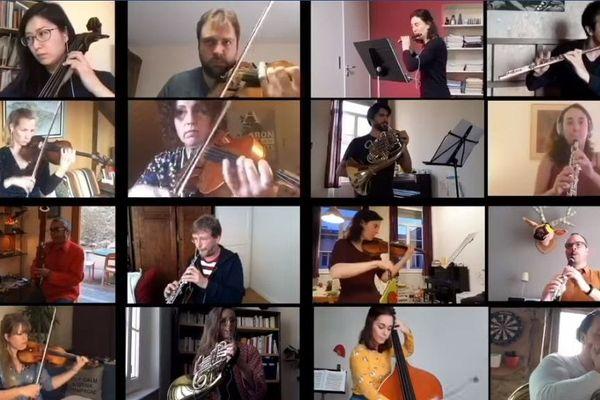 L'Orchestre National de Lyon en concert webcam.