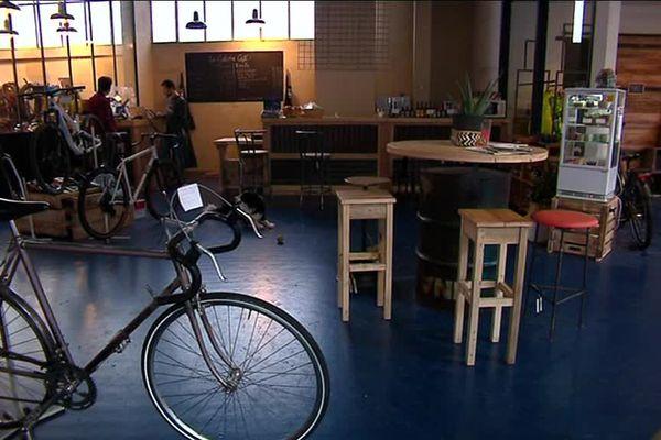 L'atelier café La Cyclerie est ouvert depuis le mois d'octobre dernier à Poitiers