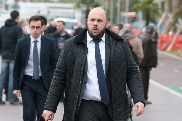 Philippe Vardon conseiller régional Front National de Paca, le13 février 2017 à Nice