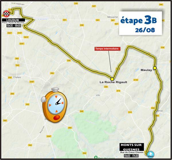 Etape 3B - CLM - Monts-sur-Guenes > Loudun - Tour du Poitou-Charentes en Nouvelle-Aquitaine