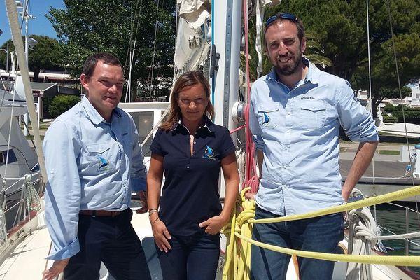 Stéphane Lemonnier (Var), Florence Gérard (Port Camargue) et Sébastien David