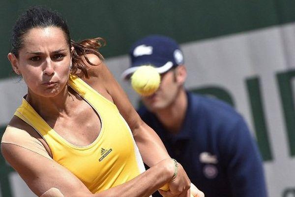 Amandine Hesse, à Roland-Garros, le 25 mai 2015.