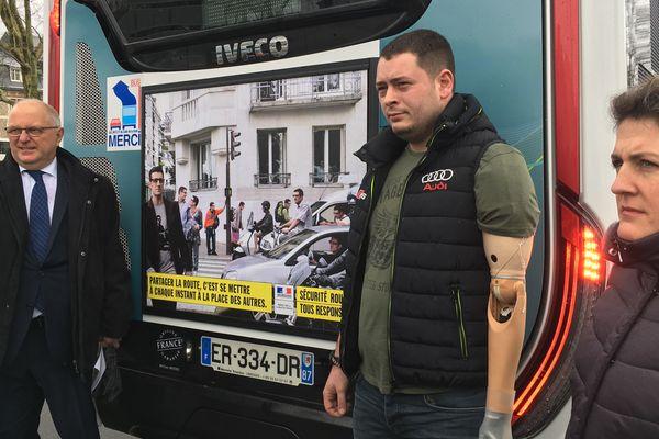 Anthony Deslas a souhaité apporter son témoignage lors du lancement de la nouvelle campagne de la Sécurité routière.