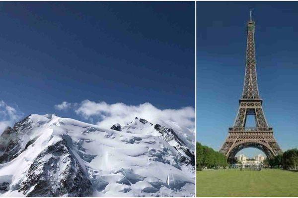 Du Mont Blanc à la Tour Eiffel