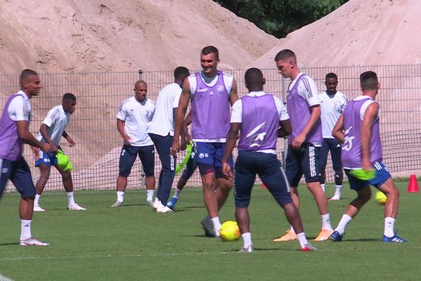 Le dernier entraînement avant la reprise du championnat de Ligue 1 avait lieu le 22 août 2020 à la Meinau.