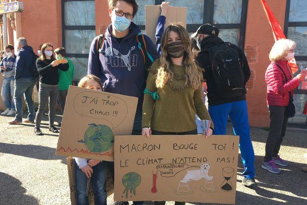 Toulouse, le 28 mars 2021, des manifestants pour un vraie loi Climat