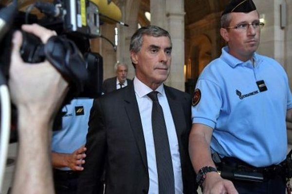 Jérôme Cahuzac arrive à son procès le 5 septembre 2016