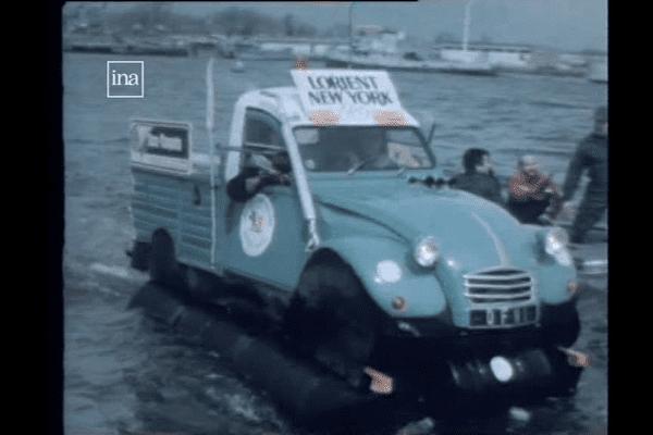 La 2CV partie en 1985 de Lorient pour rejoindre New York