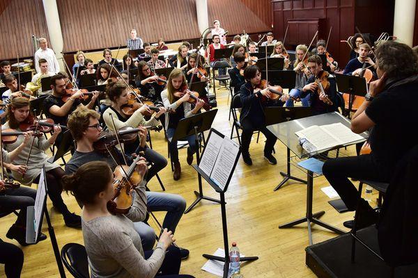 Les élèves du Conservatoire de Lille lors d'une répétition.