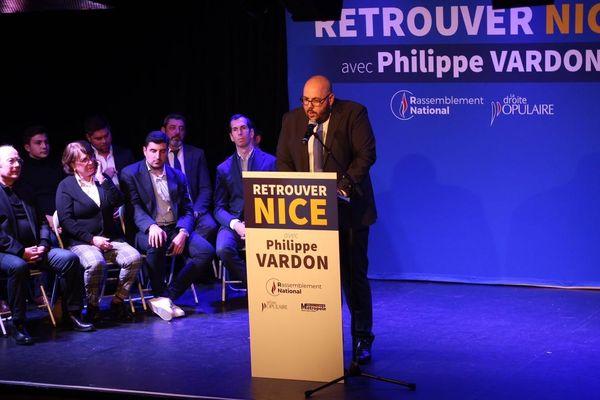 Philippe Vardon le 5 février 2020 à Nice pour son programme