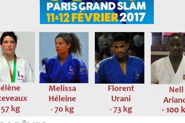 Hélène Receveaux remporte la médaille d'argent en -57kg. Les trois autres sont en lice ce dimanche