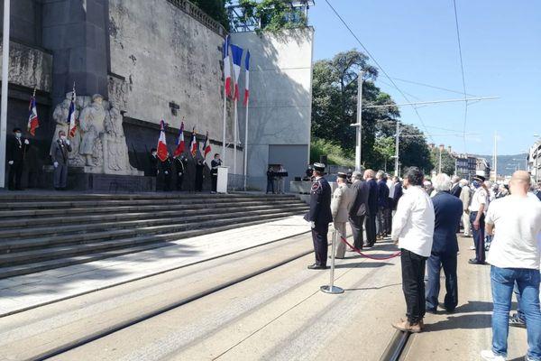 A Clermont-Ferrand, une cérémonie s'est tenue au monument aux morts ce dimanche 18 juillet.