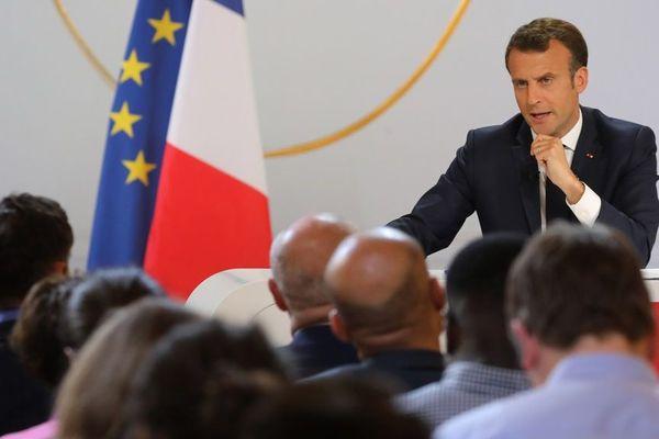 Emmanuel Macron au cours de sa conférence de presse jeudi.