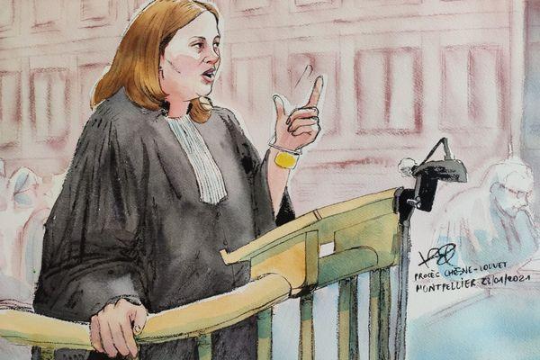 Montpellier - Me Eva Fournier, avocate d'Audrey Louvet lors de sa plaidoirie - 28 janvier 2021.