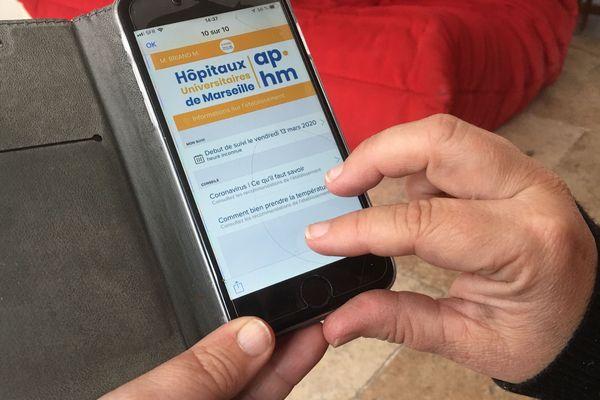 """L'application """"COVID APHM"""" permet à l'hôpital de suivre les malades atteints de Covid-19, maintenus à domicile."""