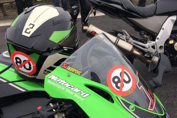 les motards conte la limitation à 80 km/h
