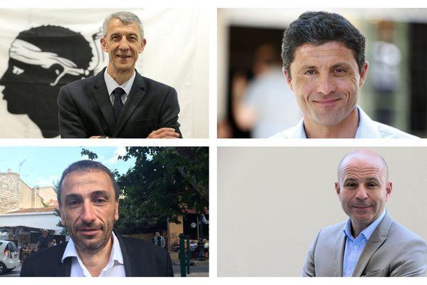 De gauche à droite et de haut en bas : Michel Castellani, Jean-Félix Acquaviva, Paul-André Colombani, Jean-Jacques Ferrara.