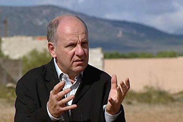 Denis Peschanski, historien directeur scientifique du Mémorial de Rivesaltes un peu avant son inauguration le 16 octobre 2015.