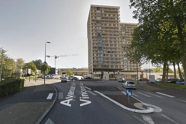 L'avenue Vincent-Auriol à Limoges où s'est produit l'accident samedi 24 janvier 2015