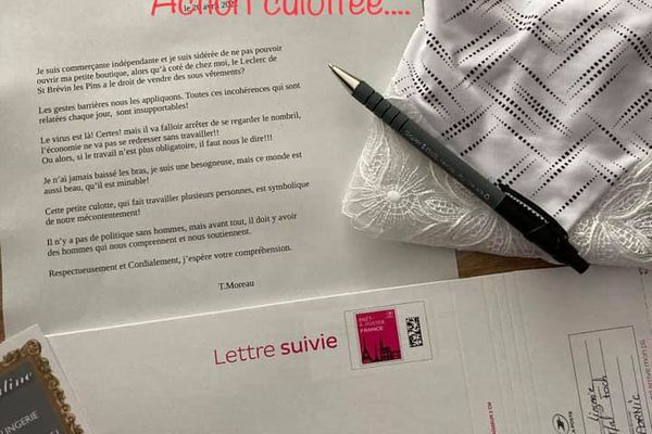 L'envoi de culotte est accompagné d'une lettre adressée au Premier ministre