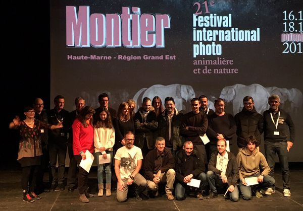 Le jury et les lauréats de la 21e édition du festival, au centre socio-culturel de Montier-en-Der, samedi 18 novembre.