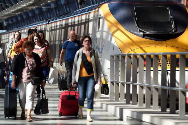 Un Eurostar en gare de St Pancras à Londres ce vendredi.