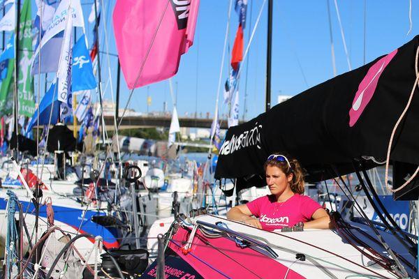 Cassandre Blandin à bord de Klaxoon, le 31 mai 2019 à Nantes