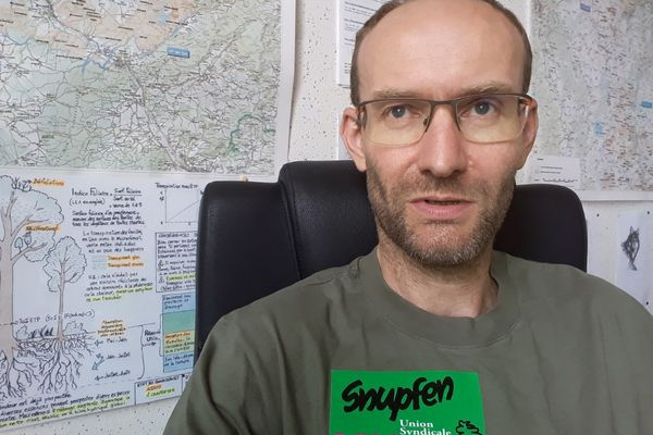 Frédéric Bedel le secrétaire régional-adjoint du Snupfen Solidaires.