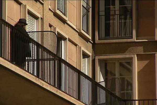 Le style reconnaissable entre tous des immeubles dessinés par Auguste Perret pour le centre historique du Havre (Seine-Maritime).