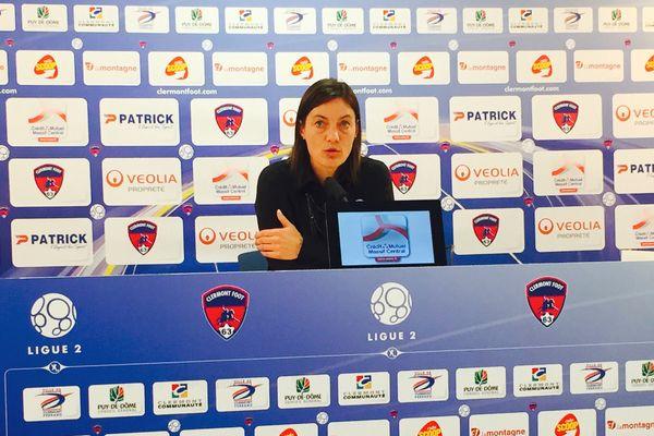 La première saison de l'entraîneure du Clermont Foot Corinne Diacre se termine sur une bonne note avec la victoire de ses joueurs face à Brest.