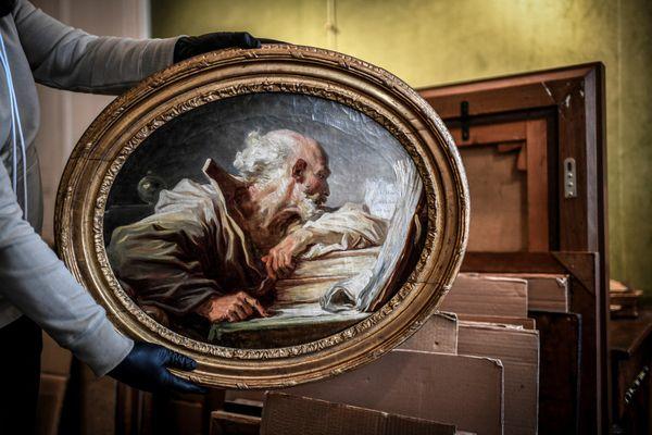 """Le """"Philosophe lisant"""", chef d'œuvre du maître Grassois Fragonard, dormait dans une maison depuis près de 200 ans."""