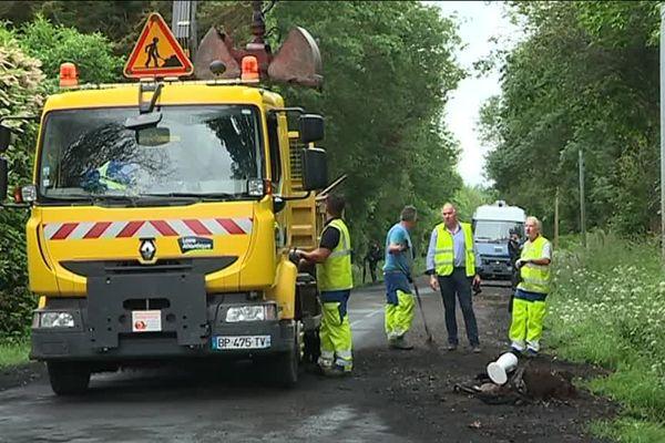 Les travaux avaient commencé le jeudi 31 mai pour restaurer la RD81 sur la ZAD de Notre-Dame-des-Landes
