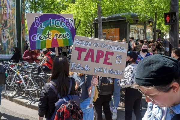 Une manifestation en faveur de la PMA pour toutes en avril 2021. Photo d'illustration