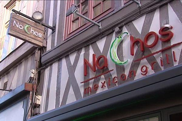 Voici la devanture du second restaurant mexicain ouvert à Rouen par les deux fondateurs de Nachos.