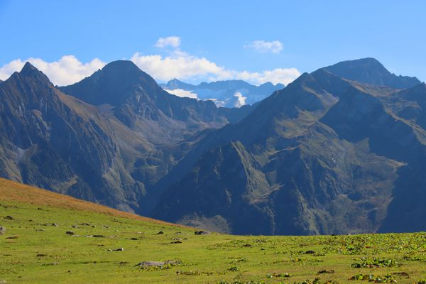 Les Pyrénées, dans le secteur de Luchon, où une jeune randonneuse britannique a disparu le 22 novembre 2020.