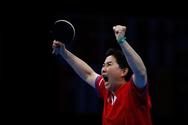 Cette nouvelle médaille est la 7e dans la carrière olympique de la championne Thu Kamkasomphou.