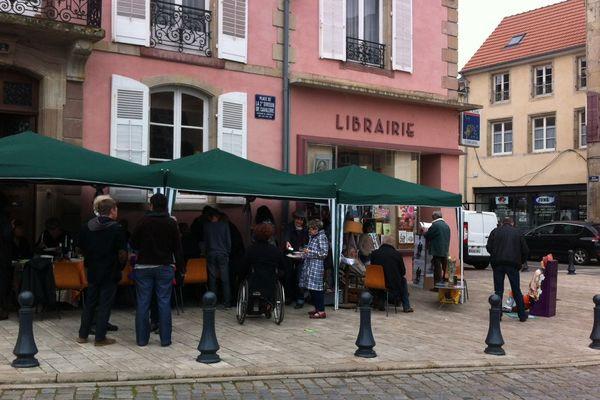 La librairie Quantin à Lunéville permettait ce samedi de dévorer des livres.
