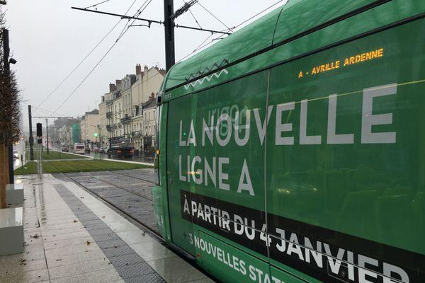 La ligne A du tram au parcours modifié est entrée en service ce lundi 4 janvier