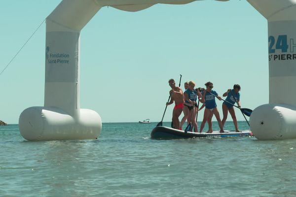 Les équipes peuvent participer à une compétition de paddle à Palavas pendant les 24h Saint-Pierre.