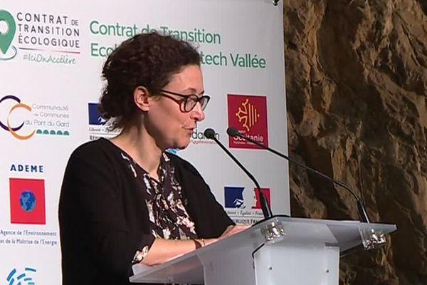 La secrétaire d'Etat à la ministre de la transition écologique, Emmanuelle Wargon, a signé un contrat de transition écologique - 6 décembre 2018