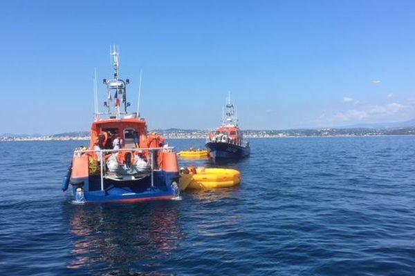 Exercice de sauvetage en mer au large de Saint-Laurent-du-Var