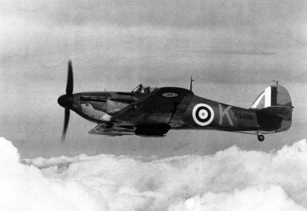 Un Hawker Hurricane semblable à celui que Jan Zumbach pilotait ce 15 septembre 1940, avant d'être abattu.