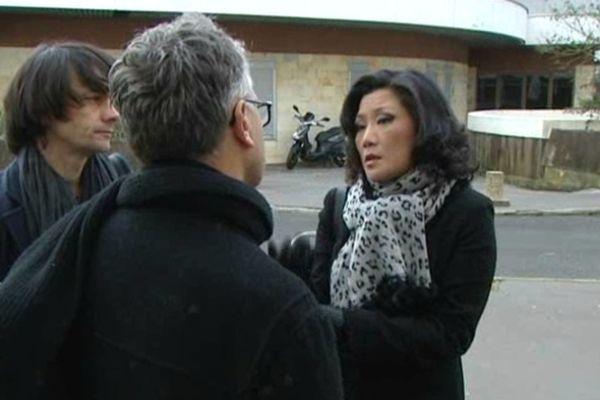Lise Han devant les Prud'hommes à Tours (Indre-et-Loire)