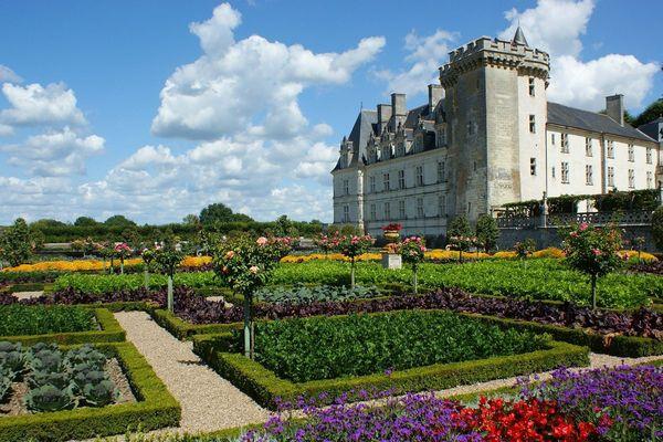 Les jardins et le château de Villandry, en Touraine