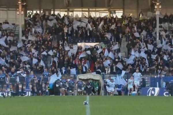 Dernier match du Racing club 92 au stade Yves du Manoir, le 16 décembre 2017.
