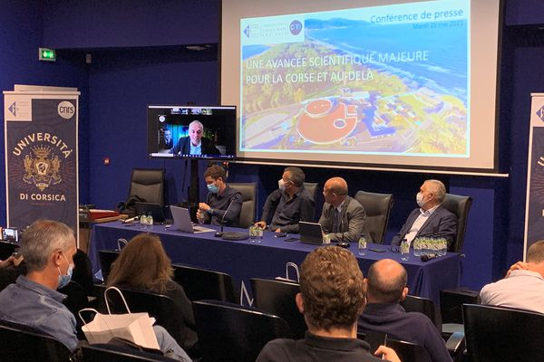 Antoine Aiello, Dominique Federici et Gérard Romiti lors du point presse organisé à Stella Mare