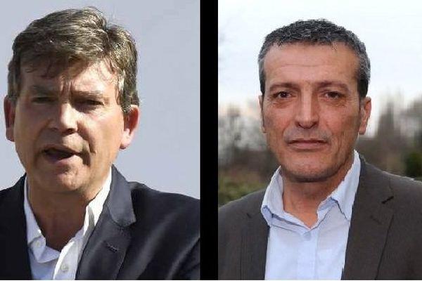 Edouard Martin (à droiteà à décidé de ne pas soutenir Arnaud Montebourg (à gauche)pour la primaire de gauche