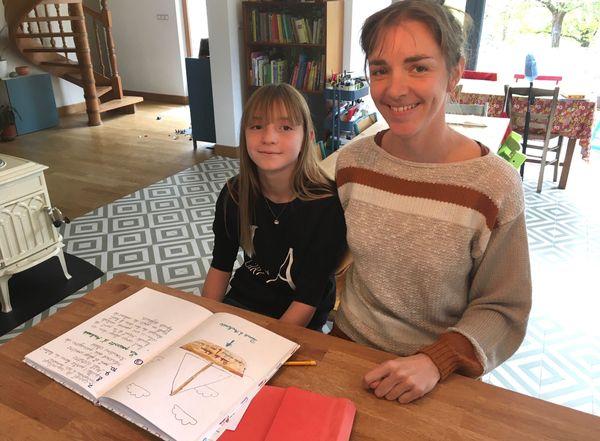 Evanie et sa fille Léonie.