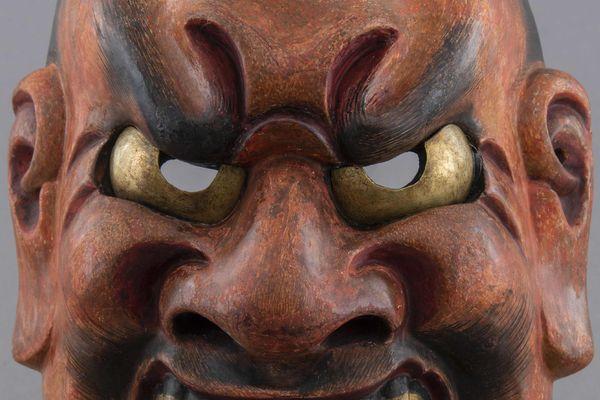 Masque de nô : démon Shikami, Période Edo (1603-1868)