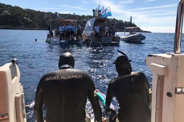 Abdelatif Alouach, quelques minutes avant son record du monde à Villefranche-sur-Mer.